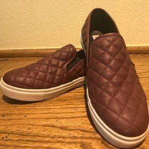 Steve Madden Burgundy Slip On Sneakers size 8